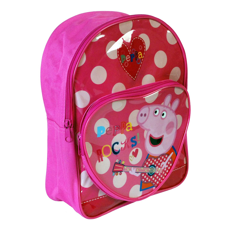 1dbc354013 Peppa Pig Character Girls Boys Unisex Kids Children s Rucksack Travel Bag  Backpack School Bag Sports Bag Range (Peppa Rocks Pocket)  Amazon.co.uk   Shoes   ...