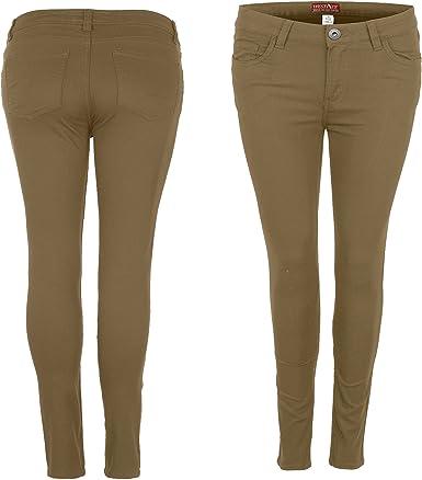 TALLA 38. westAce Pantalones vaqueros ajustados elásticos de licra para mujer, talla 8-20, color negro, azul marino y blanco