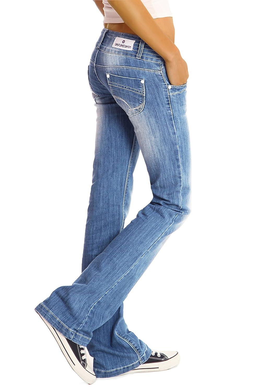 BestyledBerlin Jean pour Femmes Jean /à Taille Basse//Bootcut j97y