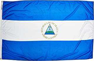 product image for Annin Flagmakers Model 196236 Nicaragua Flag Nylon SolarGuard NYL-Glo, 4x6 ft, 100% Made in USA to Official United Nations Design Specifications