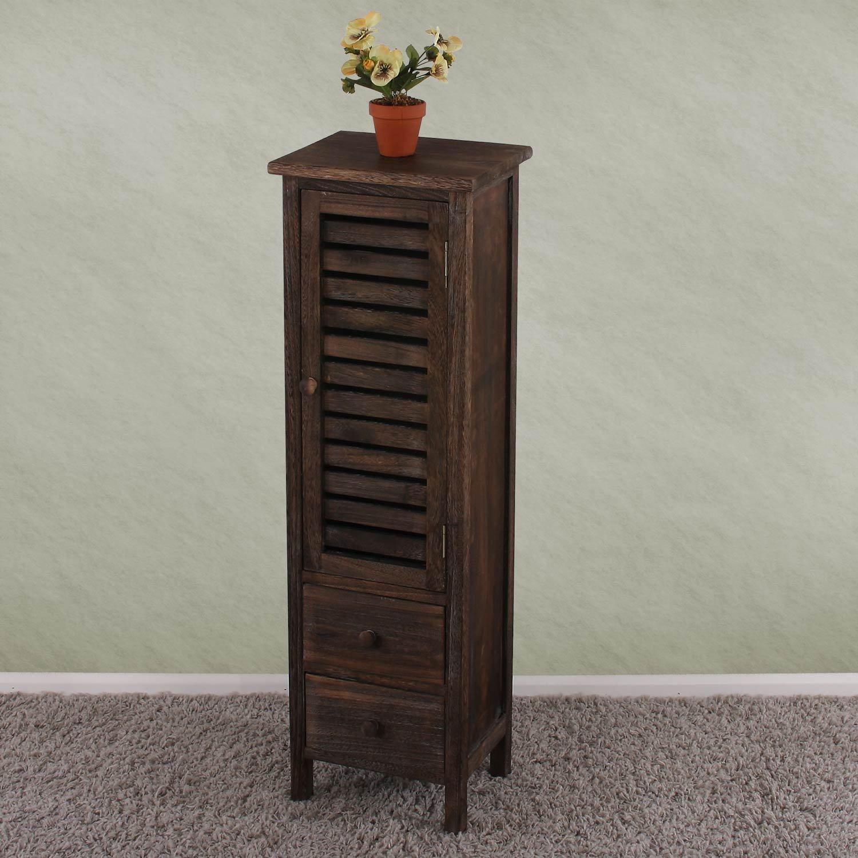 arredo bagno cassettiera vintage t38 legno di paulonia 25x30x91cm ... - Cassettiera Arredo Bagno