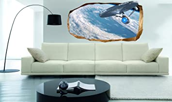 Startonight 3D Mural Wall Art Photo Decor Star Trek Explorer Amazing Dual  View Surprise Large Wall Part 26