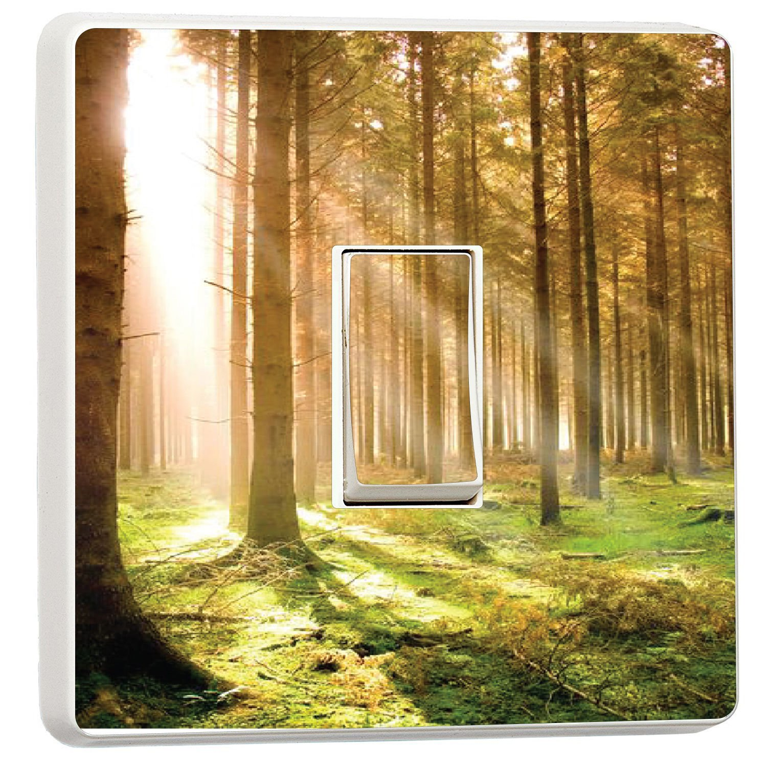 Forest at dawn woodland light switch cover sticker (3801688) Forest wmoltdTM