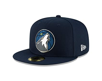 ef4443ac New Era Minnesota Timberwolves Metal and Thread Fitted 59Fifty NBA Hat -  Navy (7 1