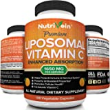 Nutrivein Liposomal Vitamin C 1650mg - 180 Capsules - High Absorption Ascorbic Acid - Supports Immune System and Collagen Boo