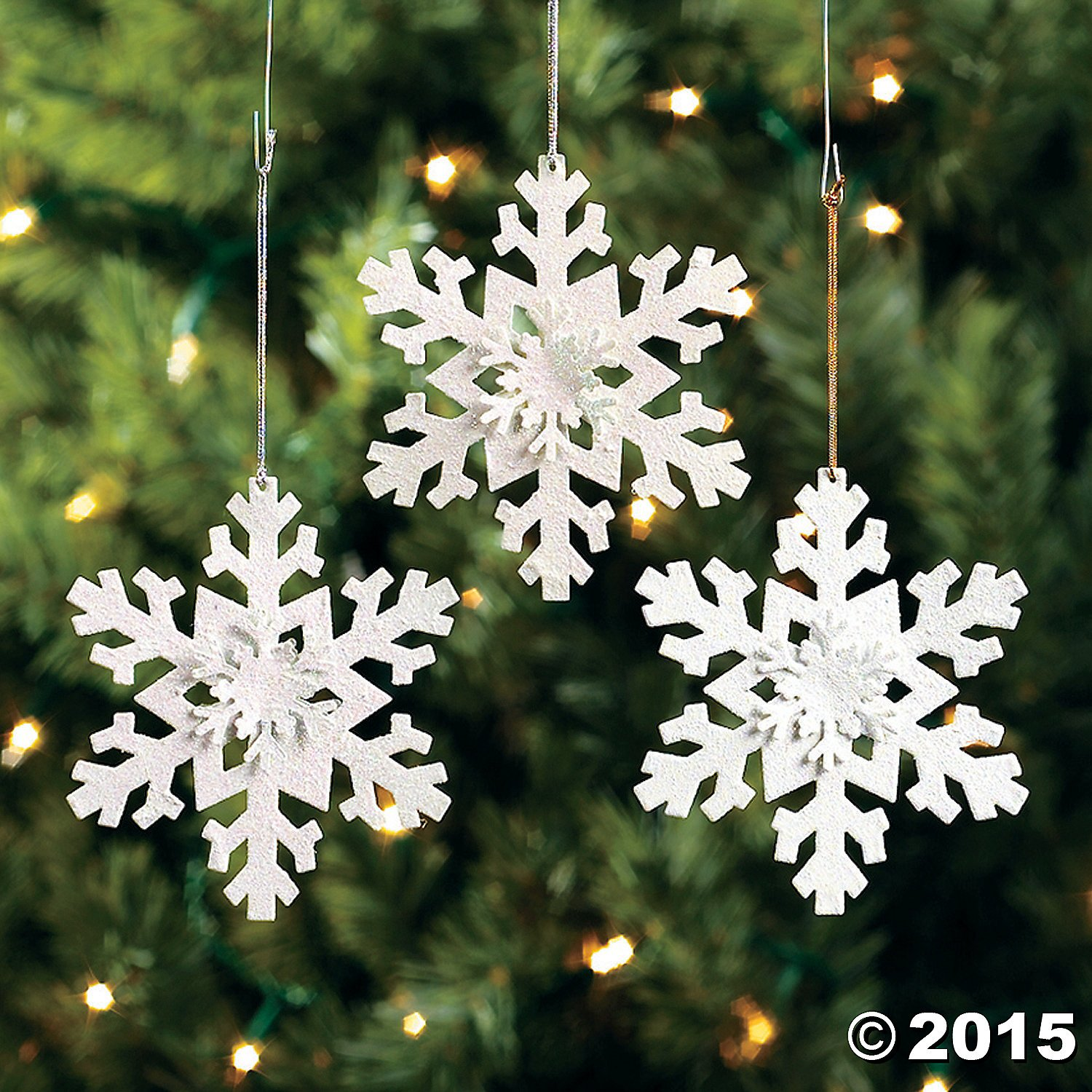 Amazon.com: 12 Metal Irridescent SNOWFLAKE Christmas Tree Ornaments/HOLIDAY  DECORATIONS/DECOR/DOZEN: Home U0026 Kitchen