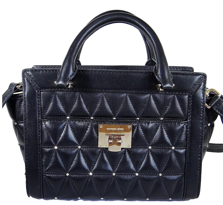 67c5230ebf774 Michael Kors Vivianne Messenger Shoulder Bag Quilted Black  Handbags   Amazon.com