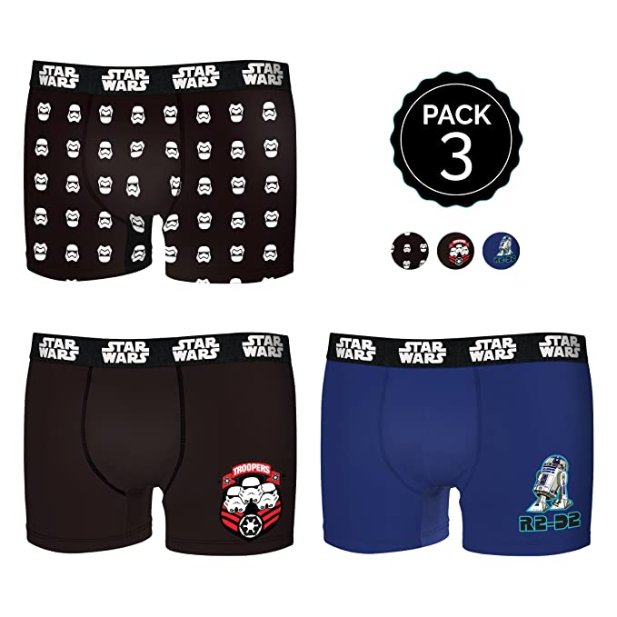 Star Wars Boxer para Hombre, Multicolor (Multicolor 0), Medium (Tamaño del