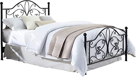 Amazon Com Crosley Furniture Evelyn Metal Headboard And Footboard Queen Black Furniture Decor