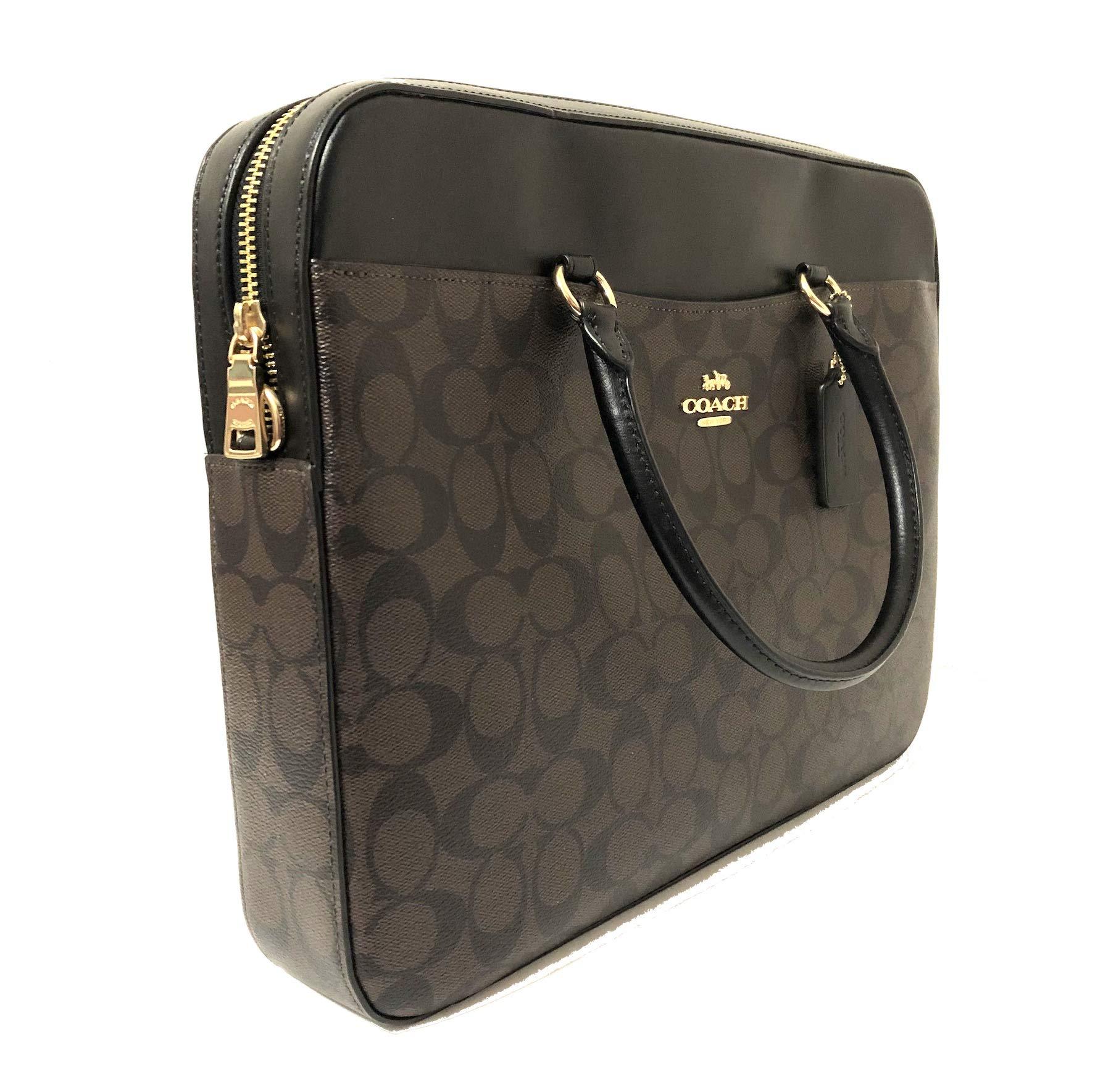 COACH Signature Laptop Bag F39023 Brown/Black by Coach (Image #2)