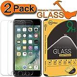Jasinber [2-Pack] Mica de Vidrio Cristal Templado para iPhone 7 / iPhone 8