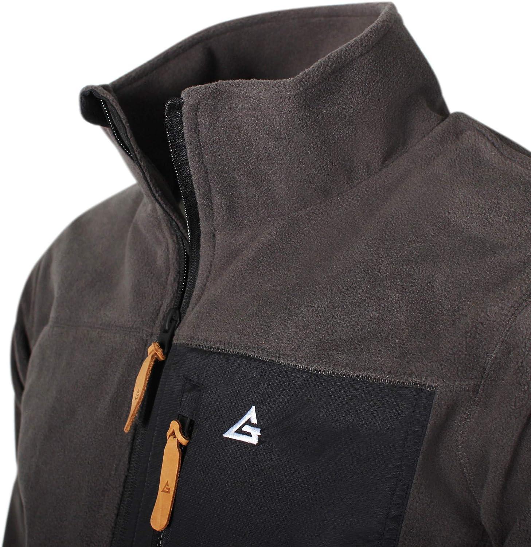 Garphyttan Fixar Wind Fleece Jacket Mens Windbreaker Full Zip Outdoor Fleece for Outdoor Hiking Trekking Camping