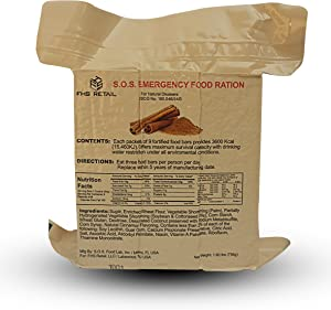 S.O.S. Rations Emergency 3600 Calorie Food Bar - 3 Day / 72 Hour Package with 5 Year Shelf Life- 10 PK