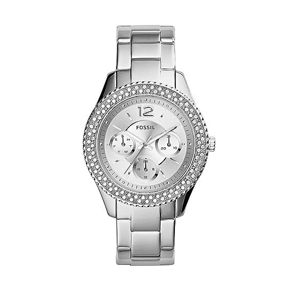 Fossil Reloj Mujer de Analogico con Correa en Chapado en Acero Inoxidable ES3588: Amazon.es: Relojes