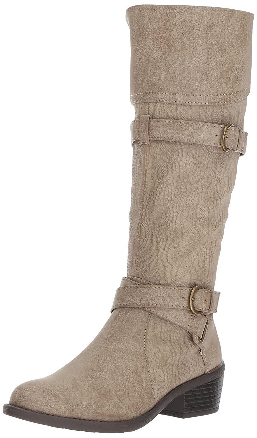 Easy Street Women's Kelsa Harness Boot B071PF8DXN 9.5 M US|Taupe/Embossed