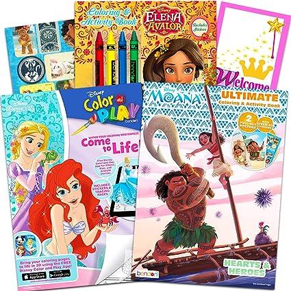 - Amazon.com: Disney Coloring And Activity Book Assortment Bundle ~ 3 Disney  Books Featuring Disney Princess, Elena Of Avalor, And Moana With Door  Hanger (Disney Coloring Books): Toys & Games