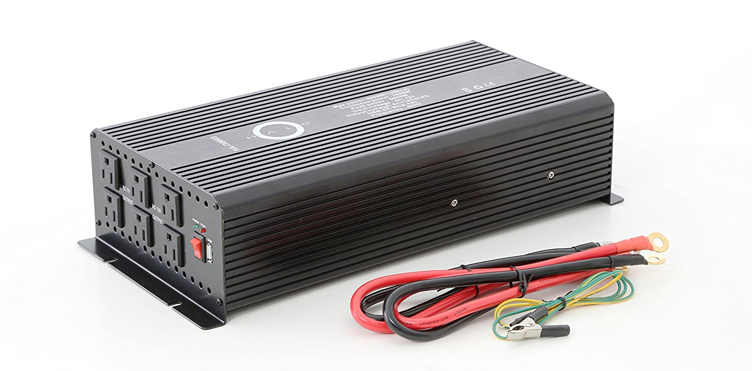 Amazon com: Halo Automotive HA-i3000S Power Inverter, 3000