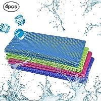 4pcs toalla de deporte refrescante KAKOO paño frío