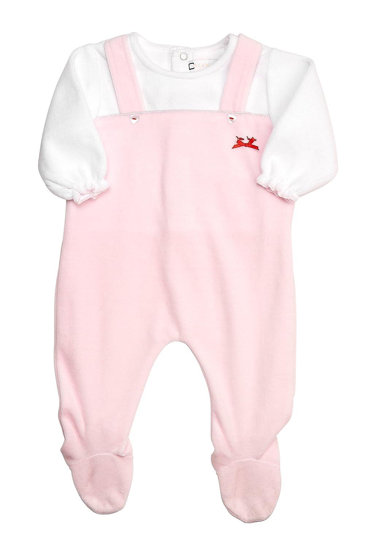 6dfaecbdec1a Amazon.com  Cream Bebe Newborn Baby Jumper Style Footed Romper