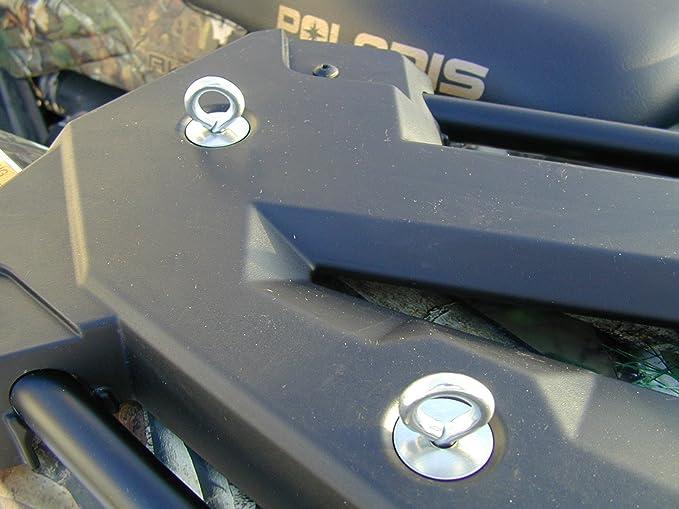 (2) Polaris Lock & Ride Lock and Ride Type Tie Downs for Sportsman, RZR, ACE, ATV's - Low Profile