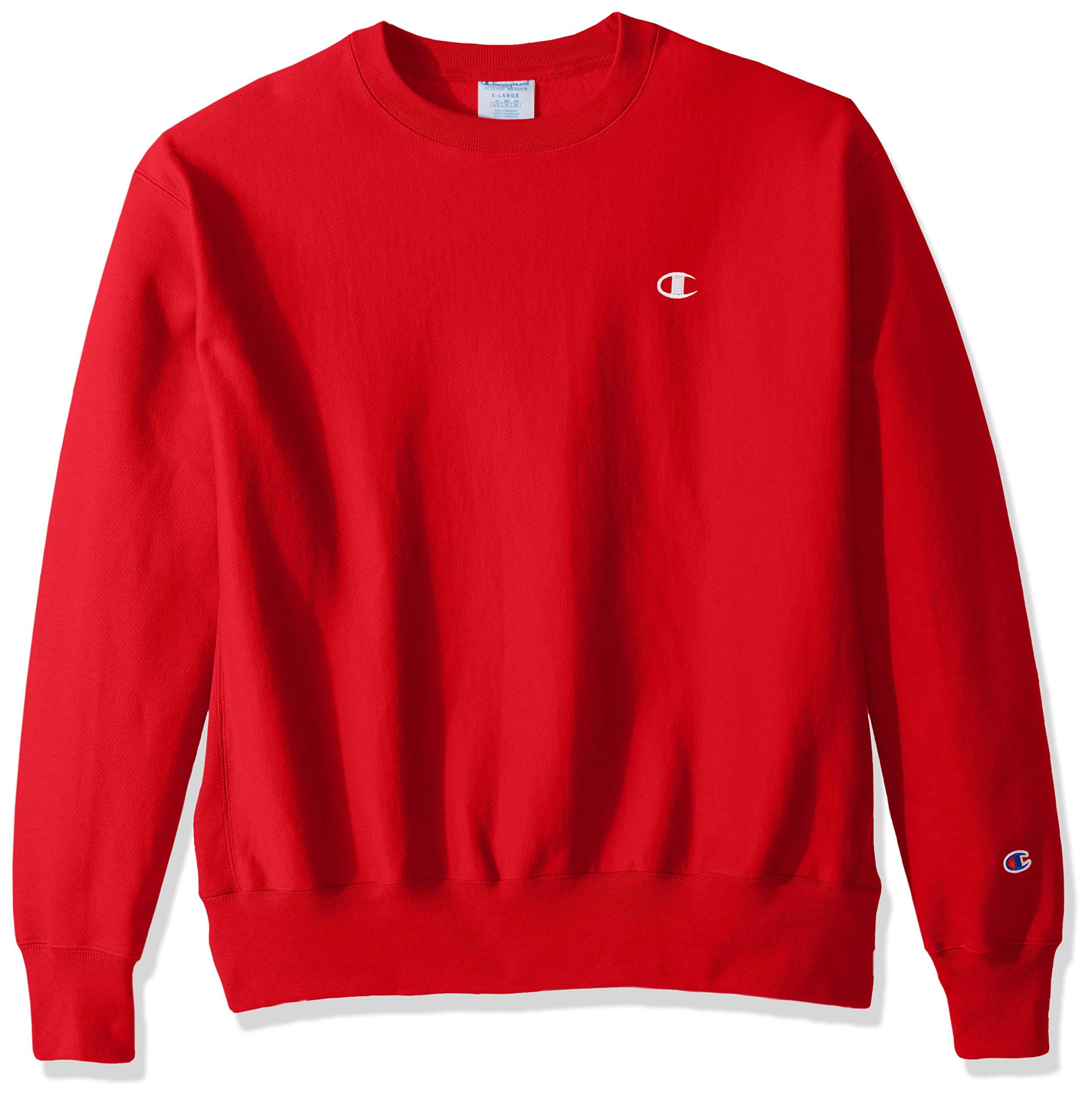 Champion LIFE Men's Reverse Weave Sweatshirt, Team Red Scarlet, Small