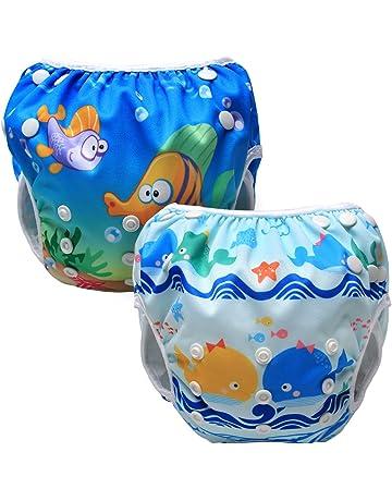 c6ad54d28 Luxja Pañal de Natación para bebes Bañador Reutilizable de Nadar de Bebé  Pañal lavable para Bebé