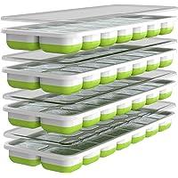 Oliver's Kitchen Ice Cube Tray - 4 x set ijsvormen - Flexibele basis voor gemakkelijk los te maken ijsblokjes - Bespaar…