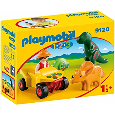 PLAYMOBIL Explorer with Dinos Building Set: Toys & Games
