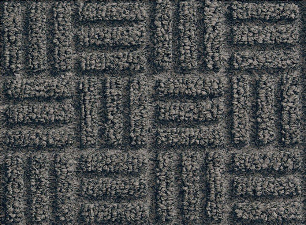 M+A Matting 265 WaterHog Masterpiece Select Polypropylene Fiber Entrance Indoor Floor Mat, SBR Rubber Backing, 4' Length x 3' Width, 3/8'' Thick, Pewter