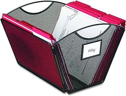 Legal Size Safco Products 2163BL Onyx Mesh Desktop Tub File Black