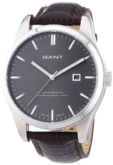 GANT W10971 - Reloj analógico automático para Hombre, Correa de Cuero Color marrón: Amazon.es: Relojes
