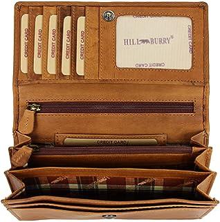 Hill Burry Damen hochwertige Geldbörse | XXL Leder Langes Portemonnaie Viel Platz online kaufen |