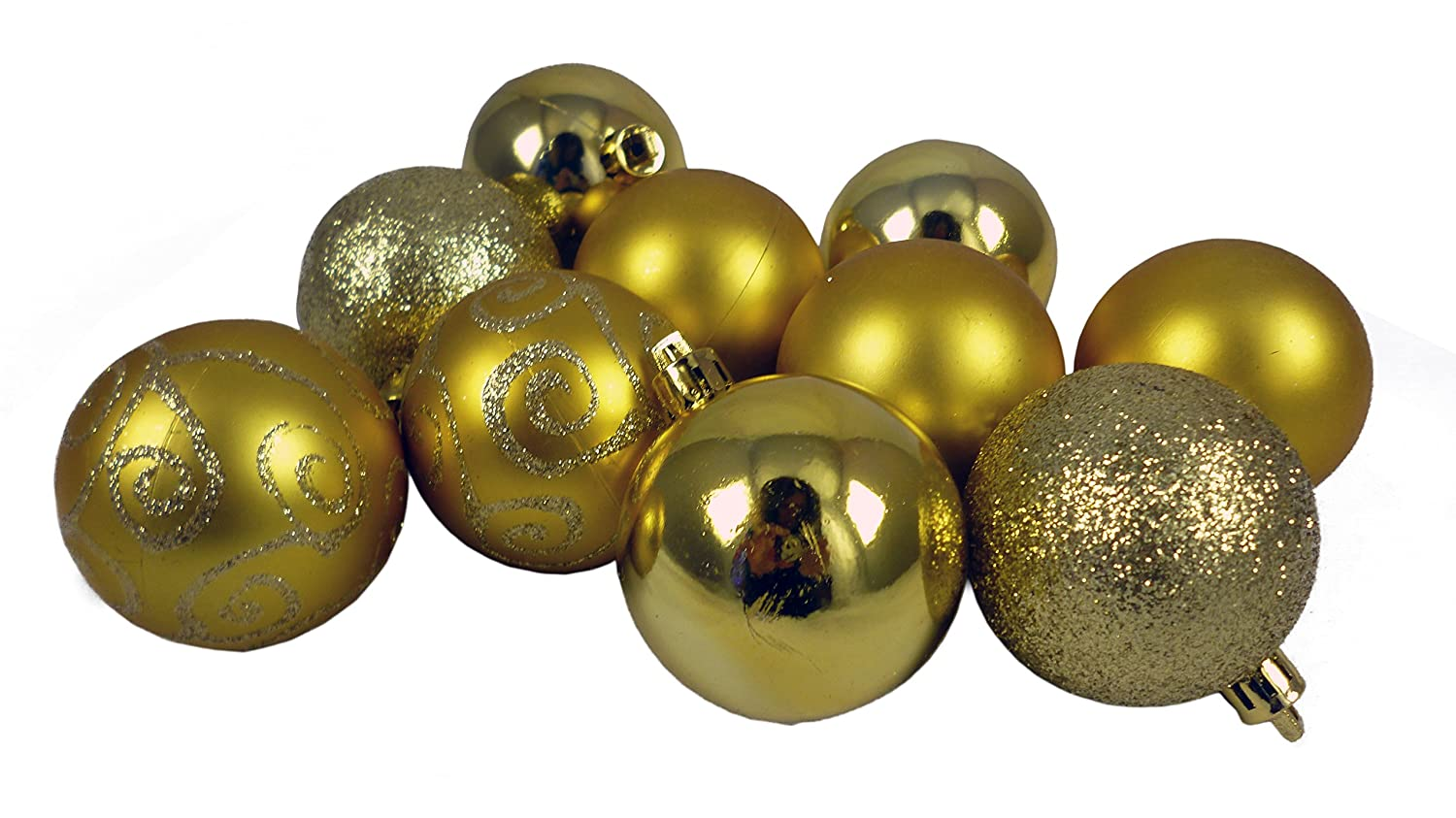 Christmas Concepts® Pack of 10-60mm Christmas Tree Baubles - Shiny, Matte & Glitter Decorated Baubles (Burgundy)