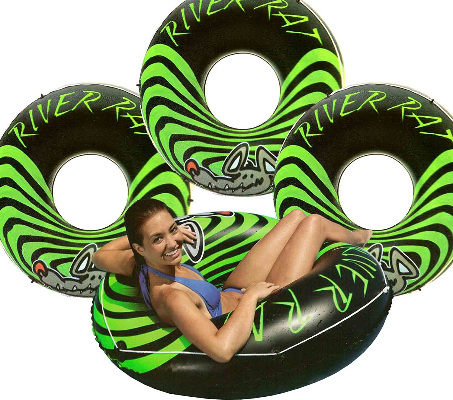 4-Pack Intex River Rat 48-Inch Inflatable Tubes For Lake/Pool/River | 4 x 68209E