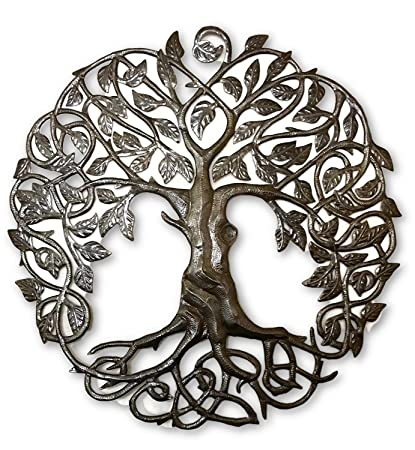 Itu0027s Cactus   Metal Art Haiti Family Roots Tree Of Life, Large Outdoor Wall  Art