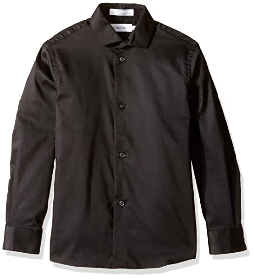 Amazon Com Calvin Klein Big Boys Long Sleeve Sateen Dress Shirt