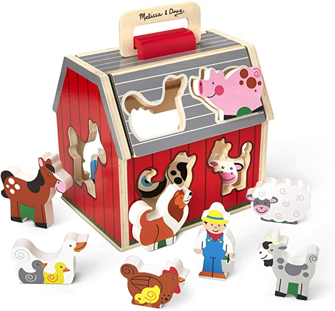 Melissa Doug Take Along Sorting Barn Toys Games Amazon Com