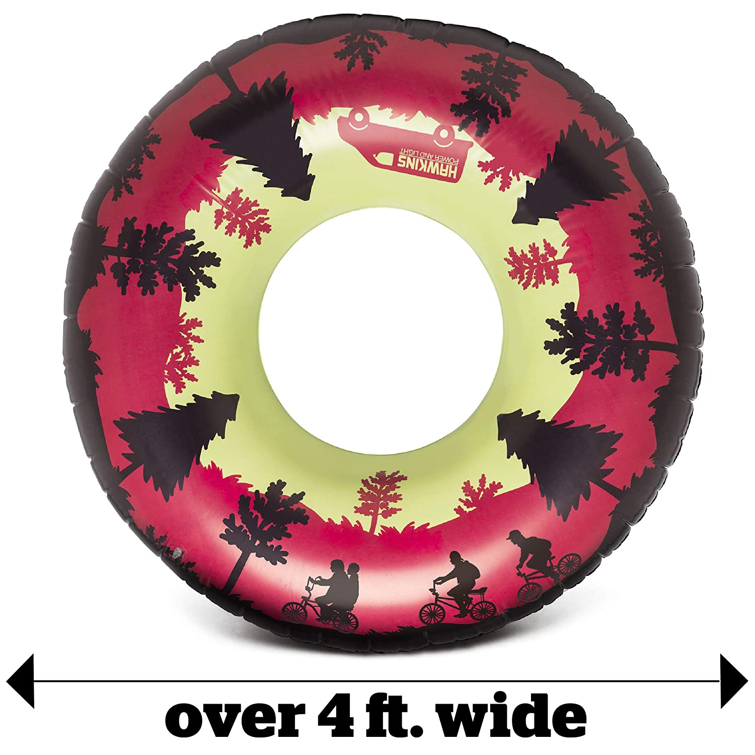 Easy to Inflate//Deflate and Clean Stranger Things Upside Down Pool Tube Makes a Great Gift Idea Reversible 4 Pool Float with Stranger Things Theme BigMouth Inc