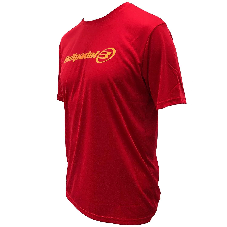 Camiseta Bullpadel Rojo ODP (S): Amazon.es: Deportes y aire ...