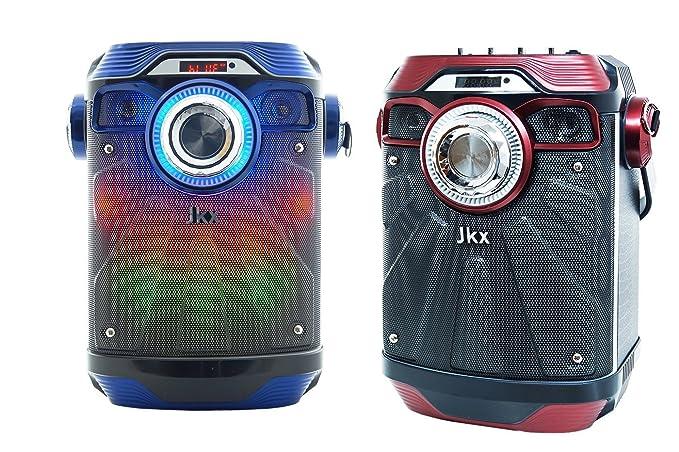 Amplificador Altavoz Bluetooth LED USB TF Card micrófono MP3 Speaker 6.5 jkx 18BT