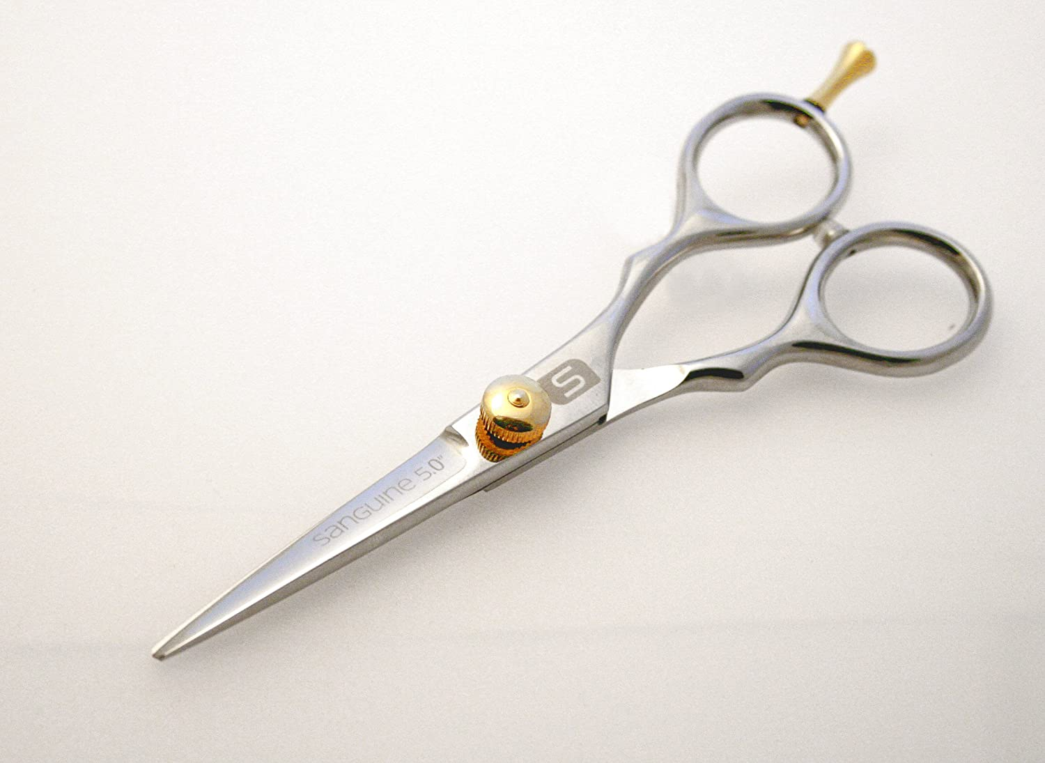 Moustache Grooming Scissors and Beard Trimming Scissors, Extremely Sharp - Silver 5 inch Sanguine Scissors Ltd Must-JAG-50Silver
