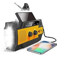 $47 » Greadio Emergency Hand Crank Radio, 2021 Newest Solar Weather Portable AM/FM/NOAA…