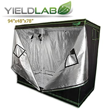 Yield Lab 96u0026quot; x 48u0026quot; x 78u0026quot; Grow Tent with Viewing Window u2013  sc 1 st  Amazon.com & Amazon.com : Yield Lab 96
