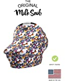 """AS SEEN ON SHARK TANK The Original Milk Snob Infant Car Seat Cover and Nursing Cover Multi-Use 360° Coverage Breathable Stretchy """"Milky Stripe"""""""