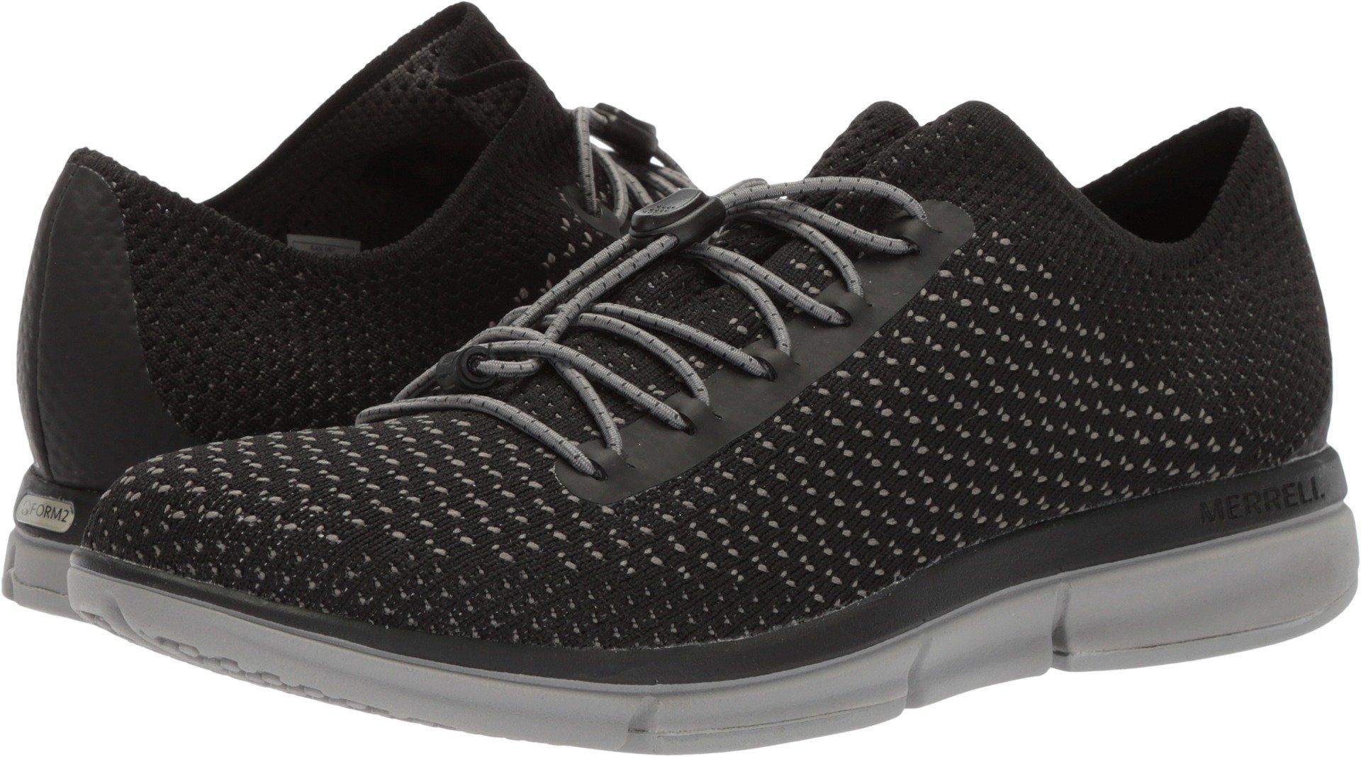 Merrell Womens Zoe Sojourn Lace Knit Q2 Lightweight Comfort Shoe, Black/Grey, 9 B(M) US