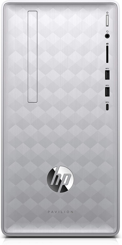 2018 HP Desktop PC - Pavilion Desktop - Intel 8th Generation Core i5-8400 (2.8 Gigahertz) - 12GB Memory - 1TB Hard Drive + 128GB Solid State Drive - Windows 10 - Natural Silver