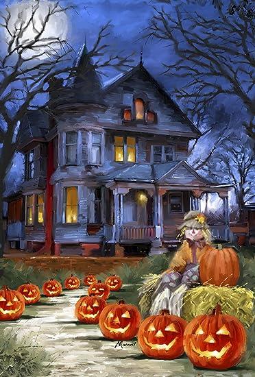 Amazon.com : Toland - Spooky Manor - Decorative Halloween Fall ...
