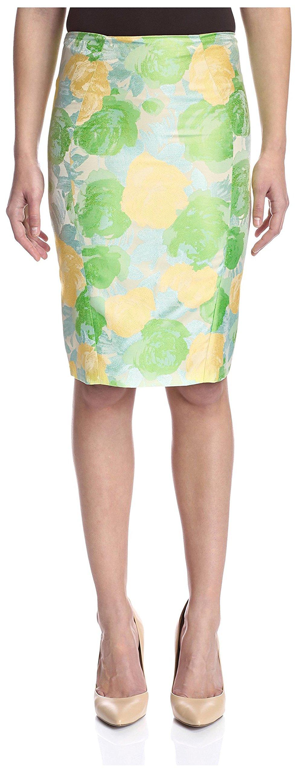 Elie Tahari Women's Penelope Skirt, Sharp Green, 2 US