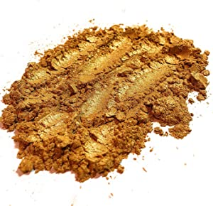 100gram/3.5oz Gold Mica Powder Non-Toxic. Gold Luster Pearl Pigment. Olympic Gold. Intense, Deep, Bright Gold Effect. Cosmetic Grade