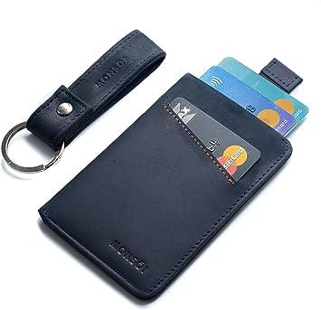 MONSOI® Tarjetero Hombre Piel RFID para hasta 12 Tarjetas | Billetera Fina | Cartera Pequeña para Hombres y Mujeres | El Slim Wallet: Amazon.es: Equipaje